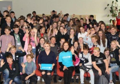 Minijiečiams gerumo pamoką vedė UNICEF…